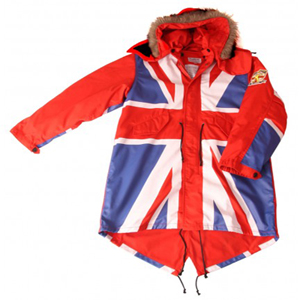 david watts union jack fishtail parka
