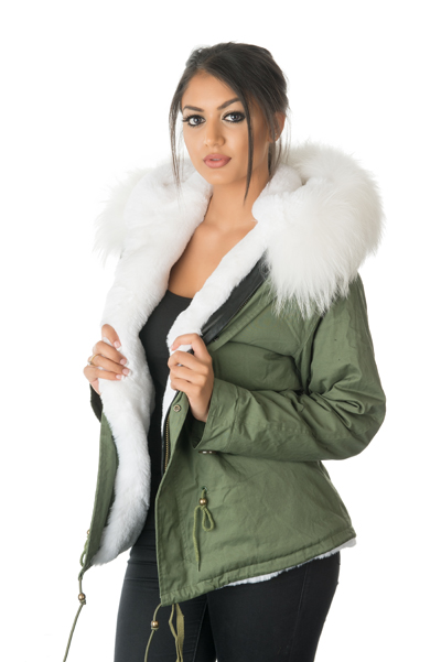 Stonetail Women S White Fur Parka Jacket