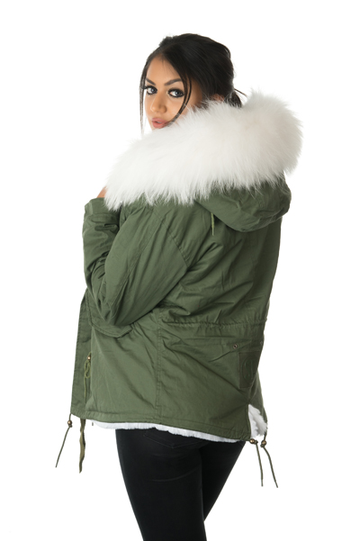 Stonetail | Women&39s White Fur Parka Jacket