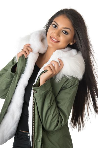 Stonetail Women S White Fur Parka Jacket