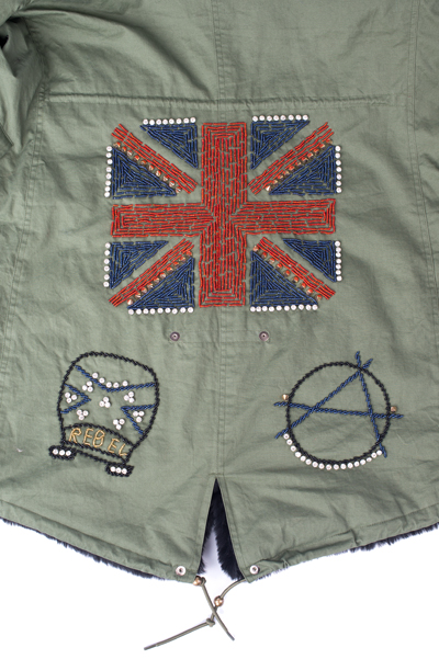 union flag braiding detail
