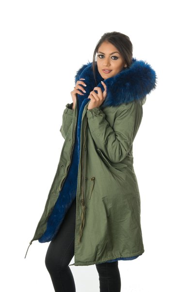 Stonetail | Women's Blue Fur Parka Coat