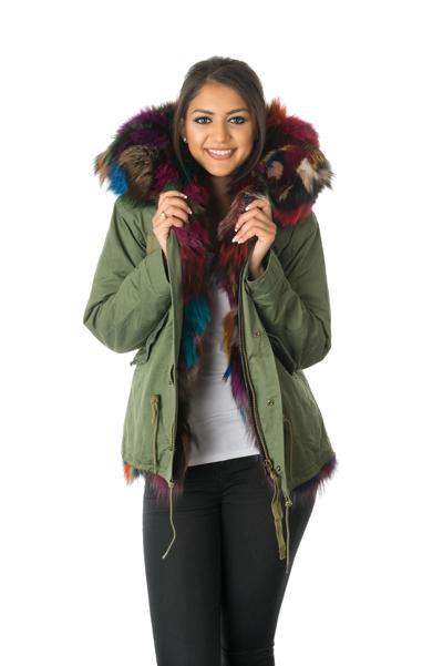 Stonetail | Women's Multi-Coloured Fox Fur Parka Jacket