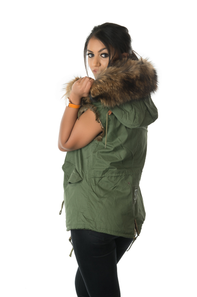 raccoon fur gilet