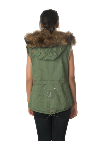 back of fur gilet