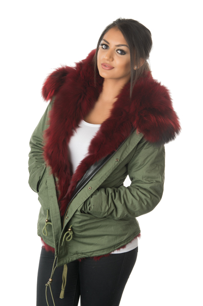 ruby red fox fur