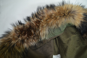 real fur parka hood stitching