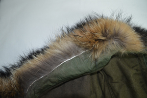 real fur hood stitching