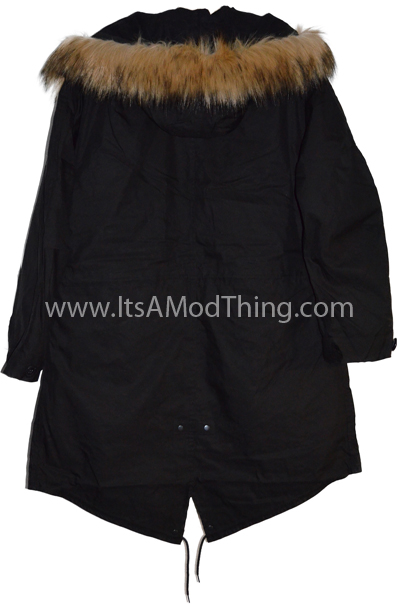 black m51 faux fur hood back