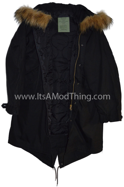 black m51 faux fur hood