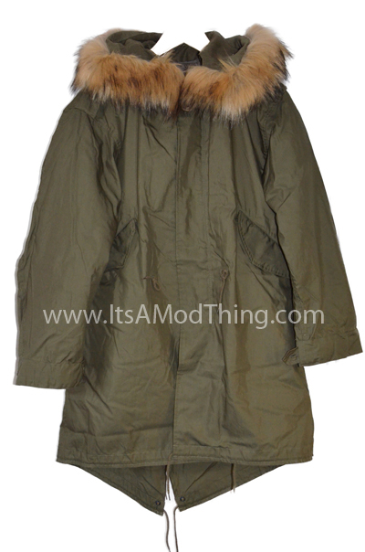 m51 olive faux fur open