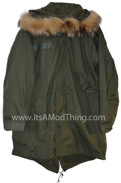 m65 fishtail parka faux fur hood