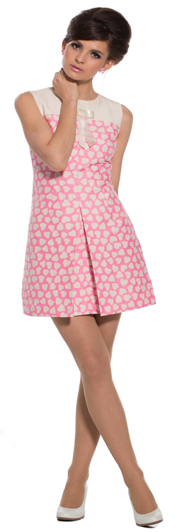 heart pattern dress