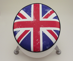 union flag footstool