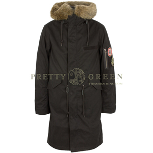 pretty green black parka