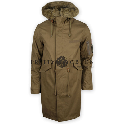 pretty green khaki parka