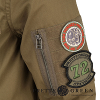 pretty green parka logo