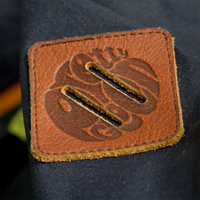 tosh jacket leather logo