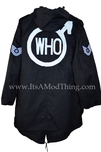 black the who parka