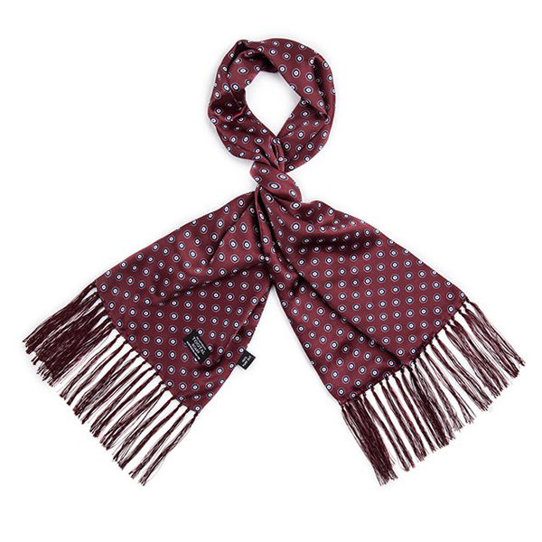 e458d361389 Tootal Vintage Mod Target Wine Red Silk Scarf