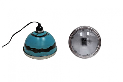 blue vespa pendant light