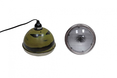 green vespa pendant light
