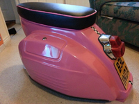 pink ladies scooter seat