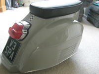 silver scooter seat